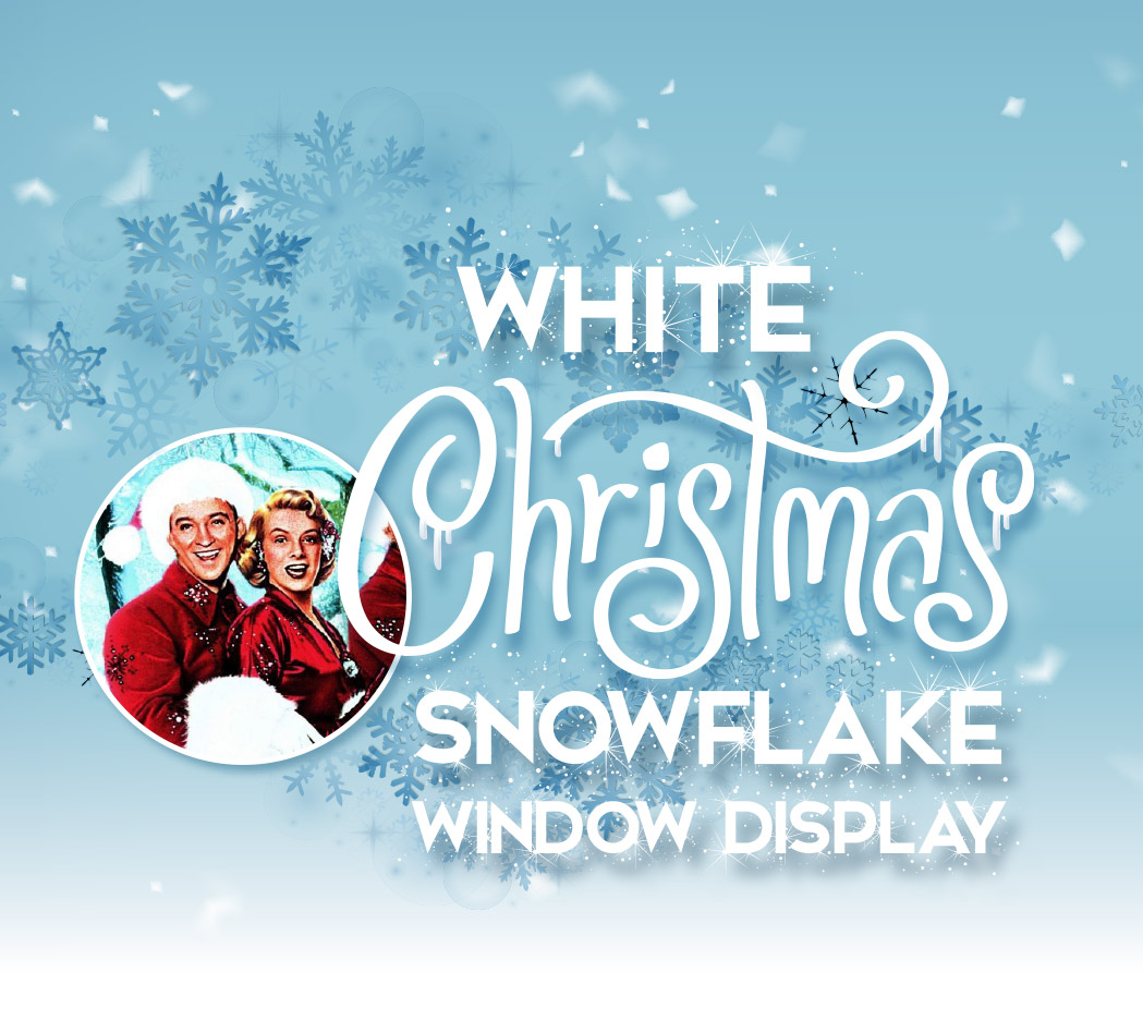 White Christmas Snowflake Window Display 2020